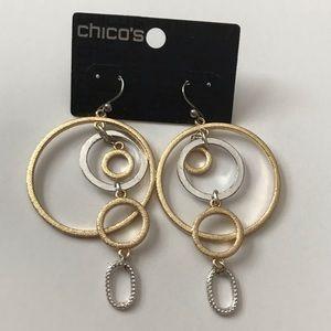 Chico's Dangling Multi Hoop Earrings NWT